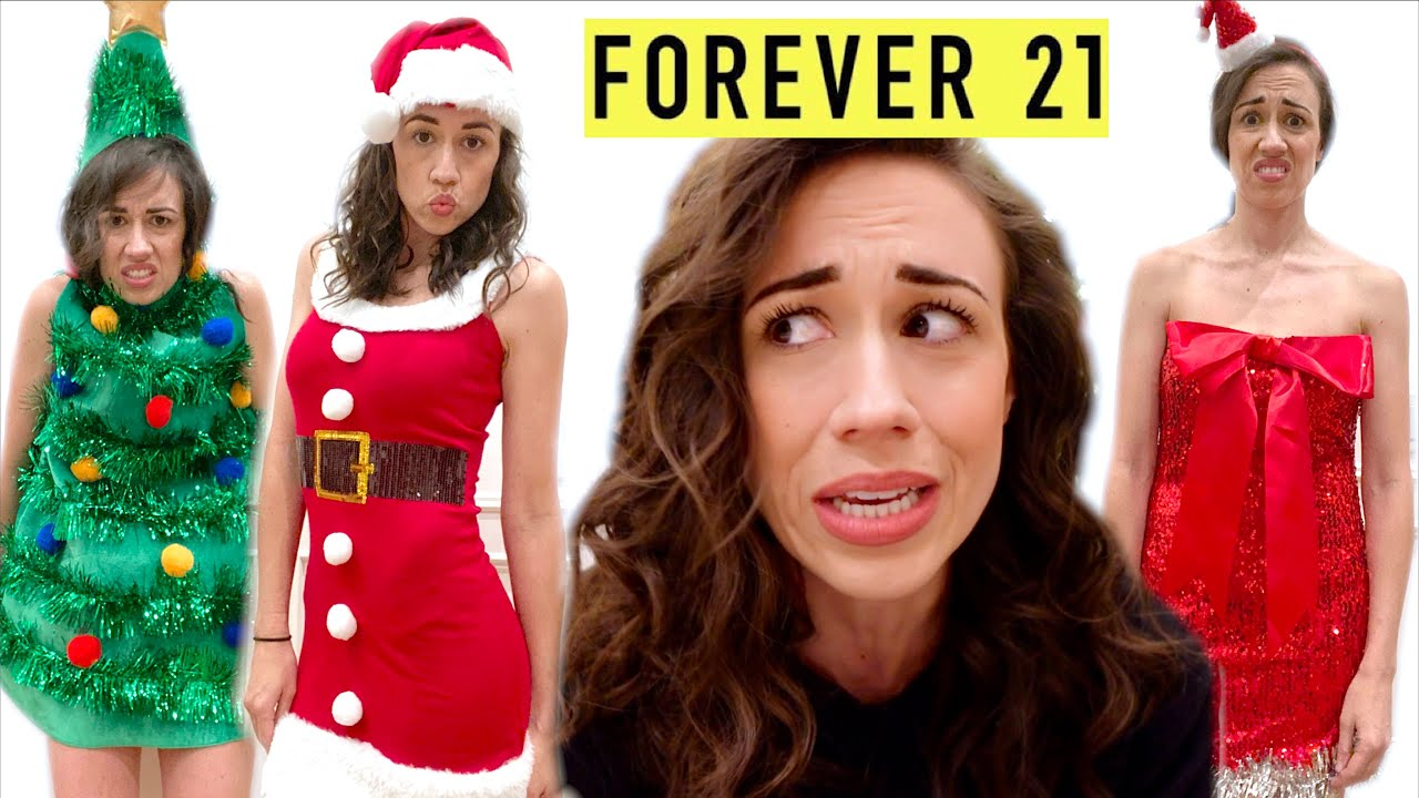 TRYING ON UGLY CHRISTMAS DRESSES FROM FOREVER 21!