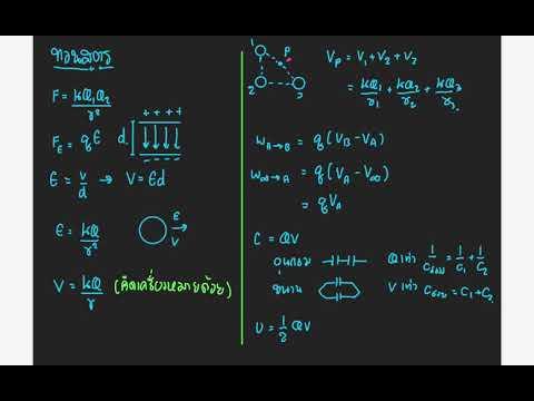 ฟิสิกส์ ม.5 เรื่อง ไฟฟ้าสถิต (ทำโจทย์วนไป) Ep.1