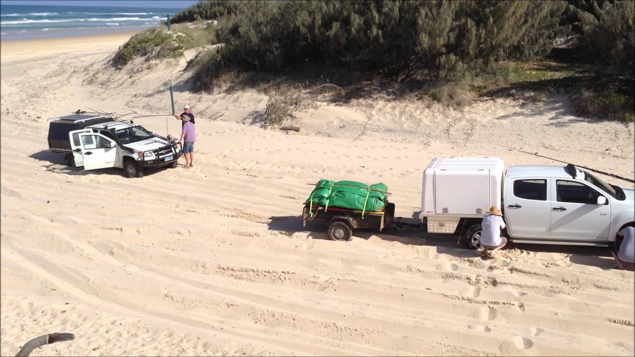 Towing Boat To Fraser Island
