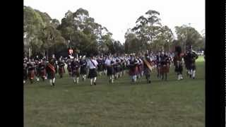Massed Pipes and Drums Opening Ceremony 2013