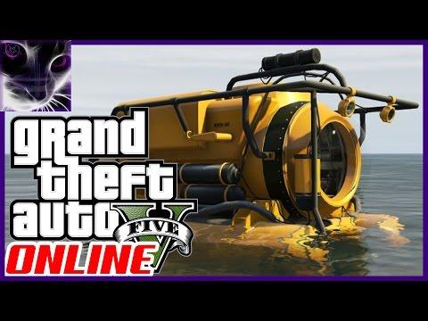GTA 5 Online - Underwater Exploring - UFO Wreck