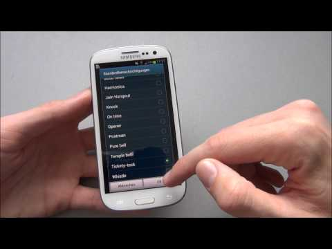 Samsung Galaxy S3 - Einstellungen/settings