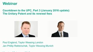 Countdown to the UPC, Part 3 (January 2016 update) – how the Unitary Patent will work