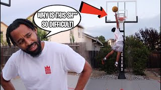 THIS WAS HILARIOUS! Attempting To Dunk On 10 FEET For The First Time In Over A Year!