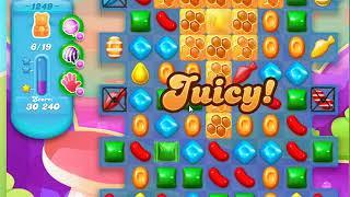 Candy Crush Soda Saga Level 1249 first try