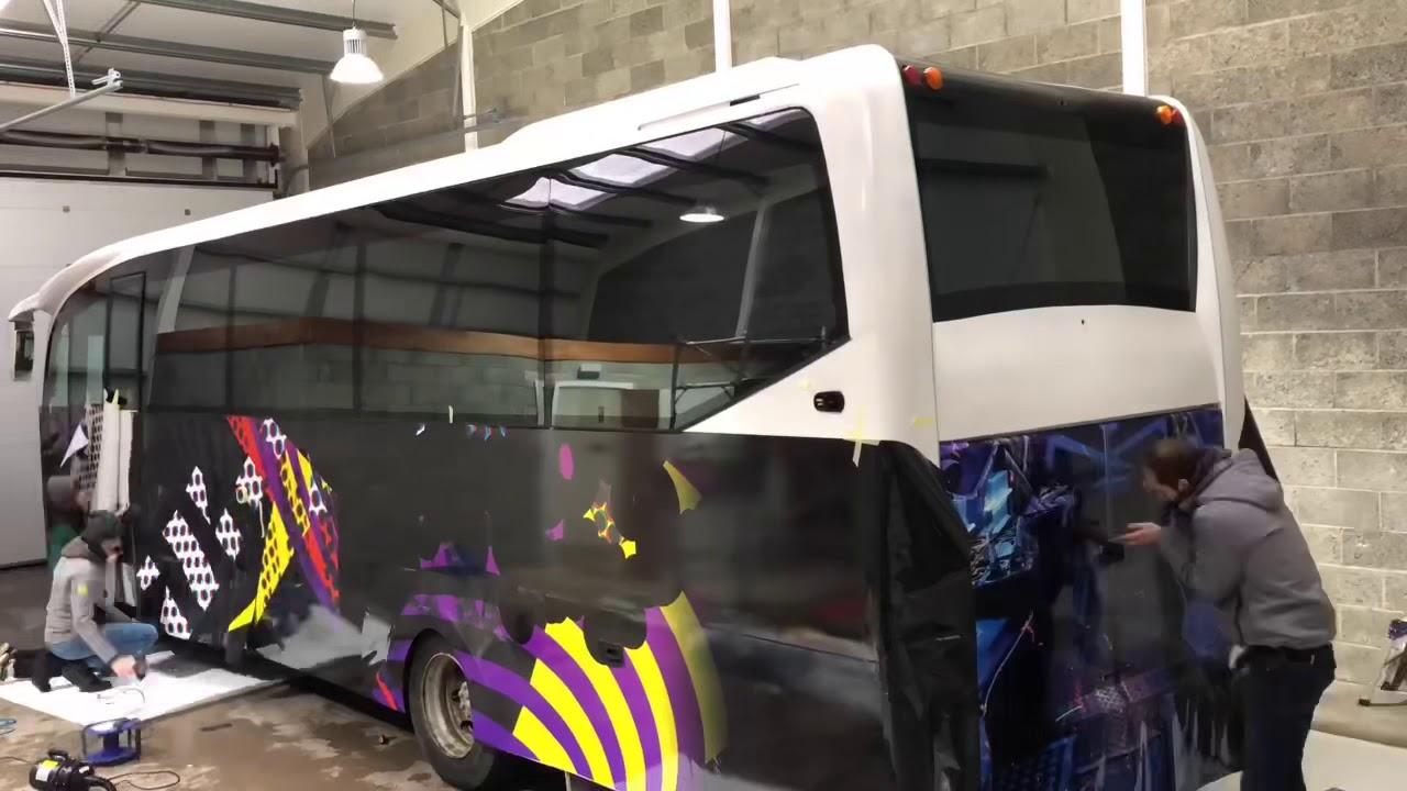 Shore wraps - Bus Wrap in Fusion Wrap