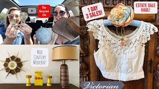 Estate Sale Shopping With THE RECYCLED LIFE -  Antique, Mid Century Estate Sale Haul Ep. 14