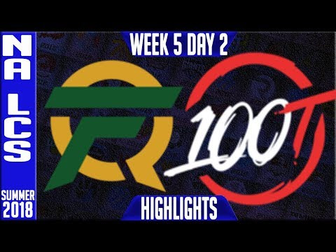 FLY vs 100 Highlights | NA LCS Summer 2018 Week 5 Day 2 | FlyQuest vs 100 Thieves