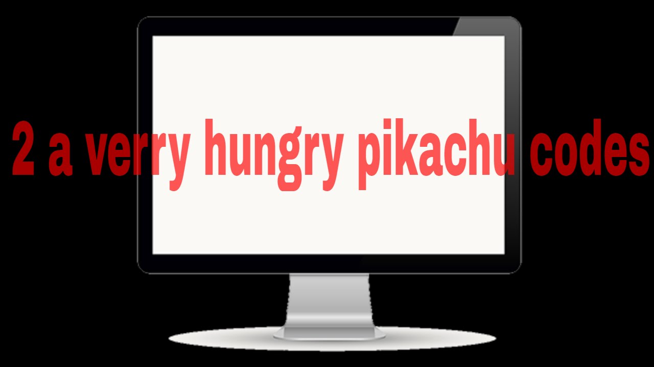2 a very hungry pikachu codes for roblox youtube. Black Bedroom Furniture Sets. Home Design Ideas