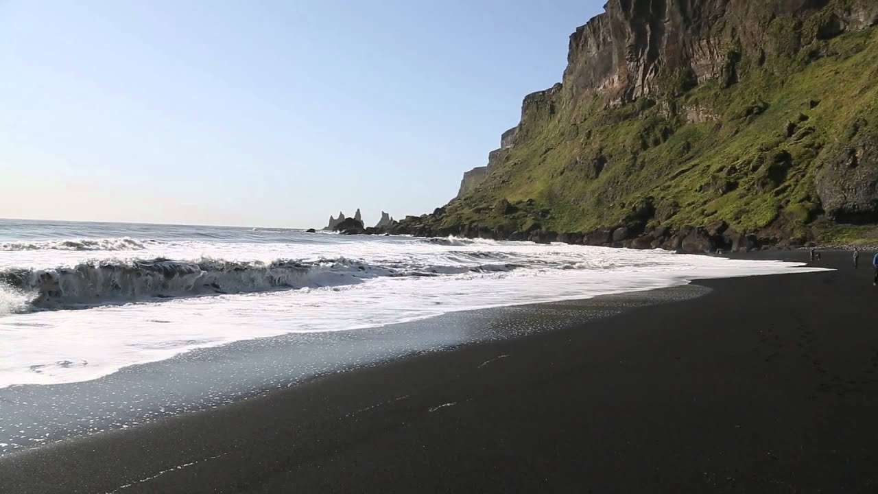 black sand beach and trolls 39 fingers v k iceland youtube. Black Bedroom Furniture Sets. Home Design Ideas