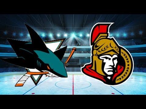 San Jose Sharks vs Ottawa Senators (5-0) All goals and Highlights!! [Extended]