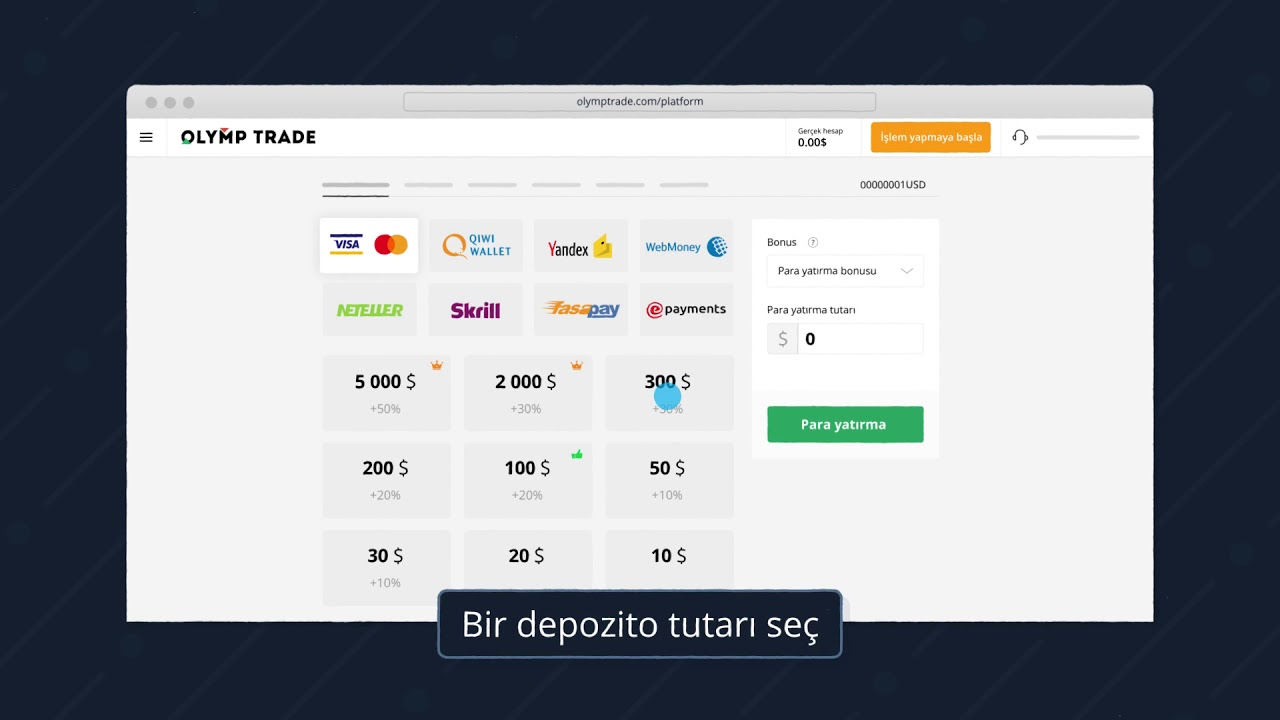 Dijital para birimi: olymp trade para yatırma