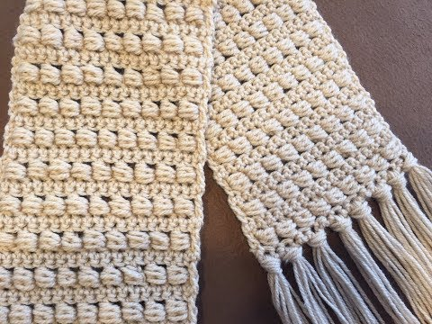CROCHET SCARF TUTORIAL ~ Beginner Level~ Easy and Fast ~ Bead Stitch