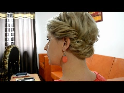 Coafura Par Mediu Si Lung Easy Updo For Medium Long Hair Youtube