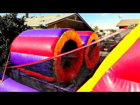 40ft Obstacle Course Jumpers in Moreno Valley Riverside party rental Menifee Murrieta Perris Yucaipa