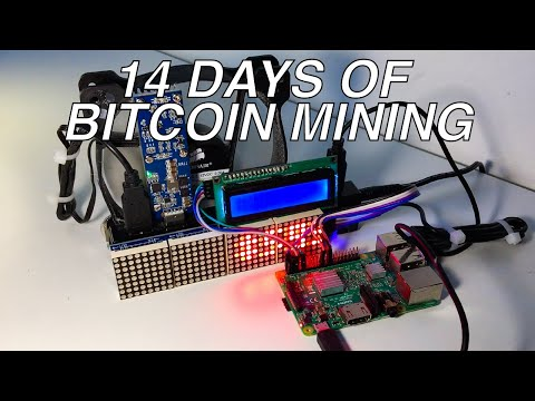 14 Days Of Bitcoin Mining With Raspberry Pi!