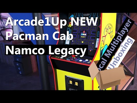 Arcade1Up Pacman New Namco Legacy Arcade 2021 - Unboxing from Local Multiplayer