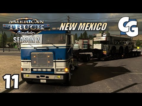 ATS S02E11 - The (Heavy Cargo) Struggle is Real - American Truck Simulator New Mexico Let's Play