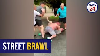 WATCH   Beemer street brawl: Shirtless men in viral clip opt to bury 'hatchet' outside court