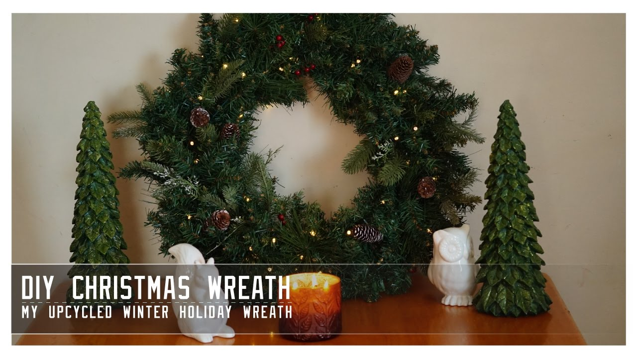 Diy Christmas Wreath How I Upcycled Old Garland For A Beautiful