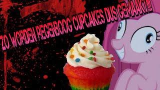 Zo worden regenboog cupcakes dus gemaakt!!!!! ROBLOX Pinkie Pie's Special Cupcake