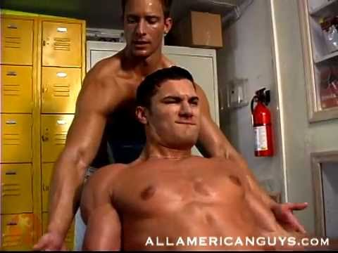 Muscly Jocks Sucking In The Gym