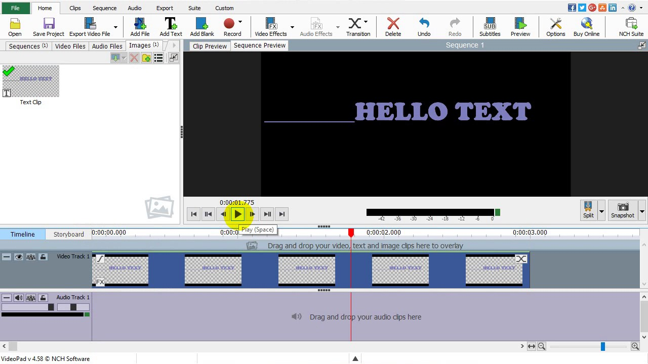 How to add text on videopad? scrolling text. NCH Videopad ...