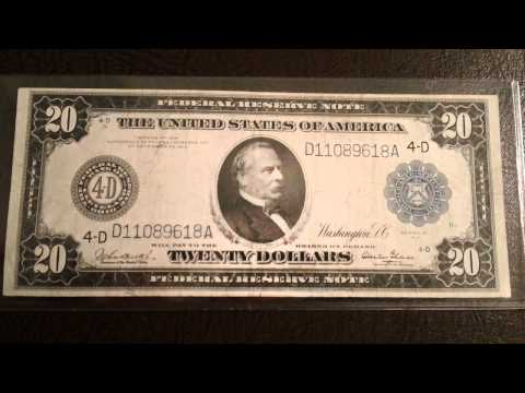 Beautiful 1914 $20 Federal Reserve Bank Note - New Currency Acquisition
