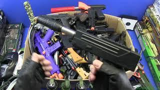 Box of Full Plastic Guns & Equipment ! Military,Police Plastic Gun&Guns