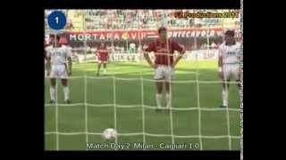 Italian Serie A Top Scorers: 1991-1992 Marco Van Basten (Milan) 25 goals