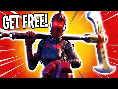 """HOW TO GET THE RARE RED KNIGHT SKIN FREE! """"Fornite Top 10 Hardest Skins To Get!!"""""""