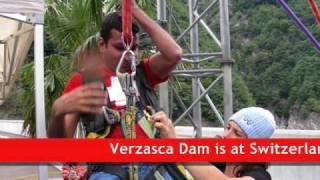 Goldeneye Bungee Jump at Verzasca Dam, Switzerland