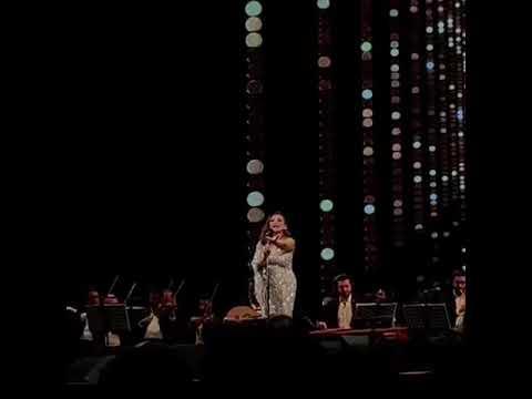 """أنغام تغير كلمات أغنيتها """"بقول نسياك"""" بـ """"يا حمارة"""" في حفل """"المنارة"""" (فيديو)"""