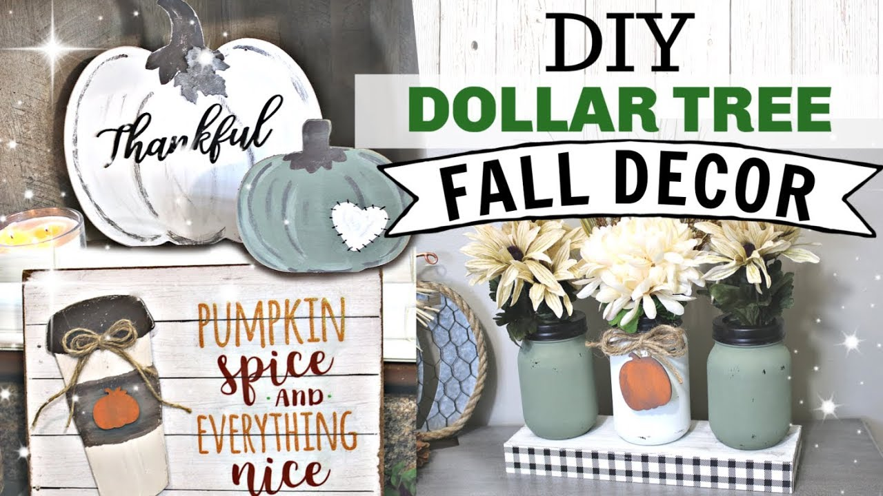 Diy Dollar Tree Fall Decor 2019 Farmhouse Autumn Dollar Tree Decor Krafts By Katelyn