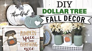 DIY Dollar Tree FALL Decor 2019 | Farmhouse Autumn Dollar Tree Decor | Krafts by Katelyn