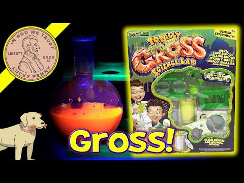 3 Totally Gross Science Lab Experiments - Glo-Water - Glotion - Invisible Ink