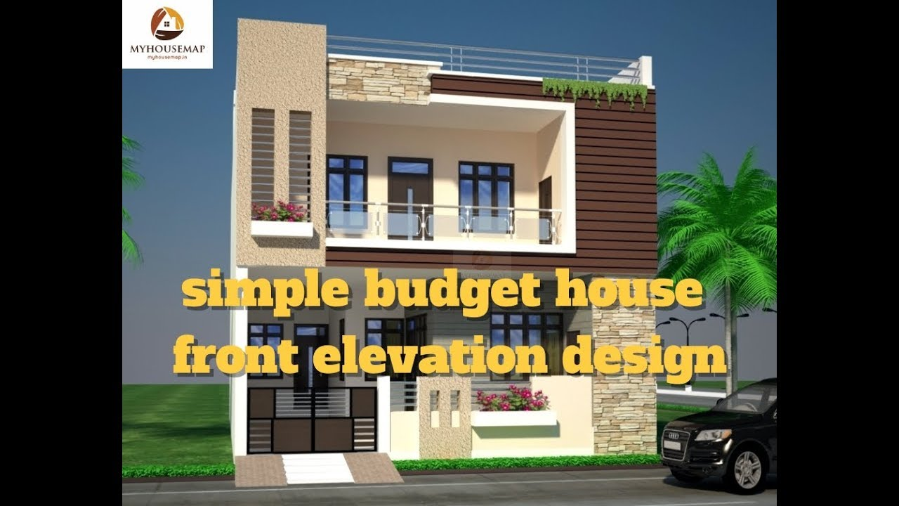 Simple Budget House Front Elevation Design Best Indian