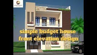 simple budget house front elevation design | best Indian home elevation 2017