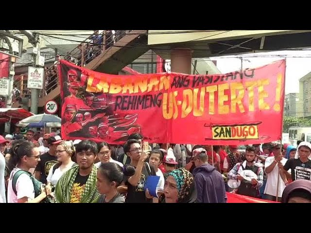 Thousands flock to Mendiola to protest against Duterte, martial law