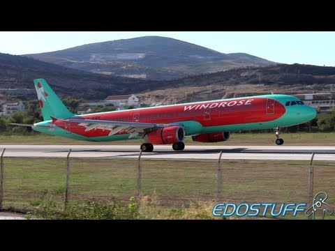 Windrose Airlines - Airbus A321-231 UR-WRH - Landing at SPU/LDSP Split airport