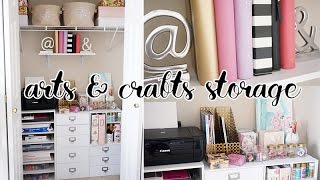 Easy Office Closet Makeover! Arts & Crafts Storage Closet | Charmaine Dulak