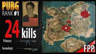 PUBG Rank 1 - Captain_LobesTV 24 kills [NA] Solo FPP - PLAYERUNKNOWN'S BATTLEGROUNDS