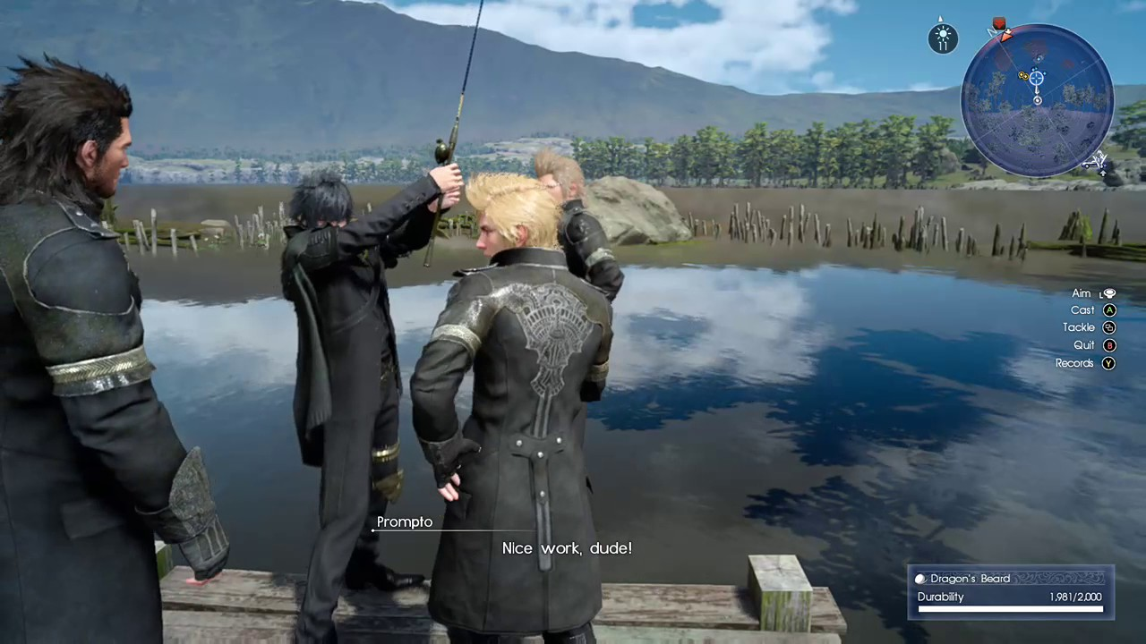 Final fantasy xv weird fishing bug the invisible fish for Final fantasy 15 fishing