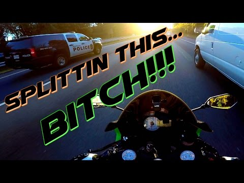 Lane Splitting in Front of Cops...