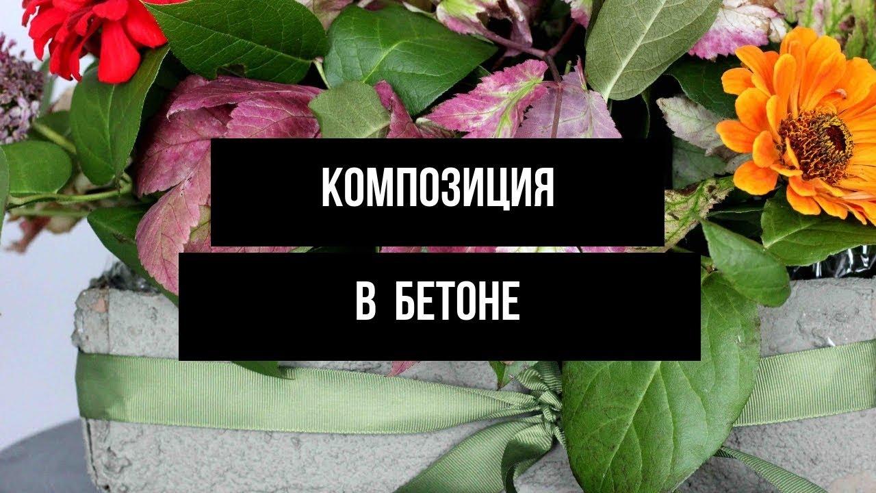 Осенние цветы в бетоне // флористика
