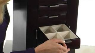 Ravella Large Wooden Jewelry Box Espresso - Product Review Video