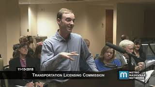 11/15/18 Transportation Licensing Meeting