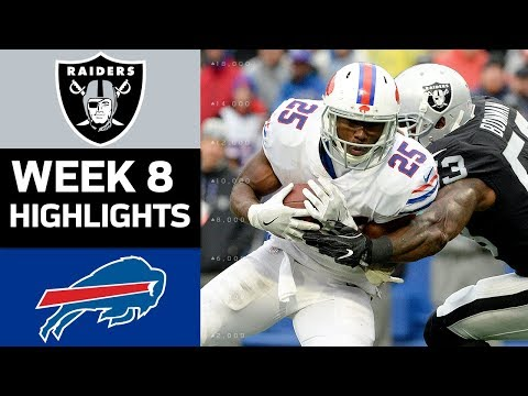 Raiders vs. Bills | NFL Week 8 Game Highlights