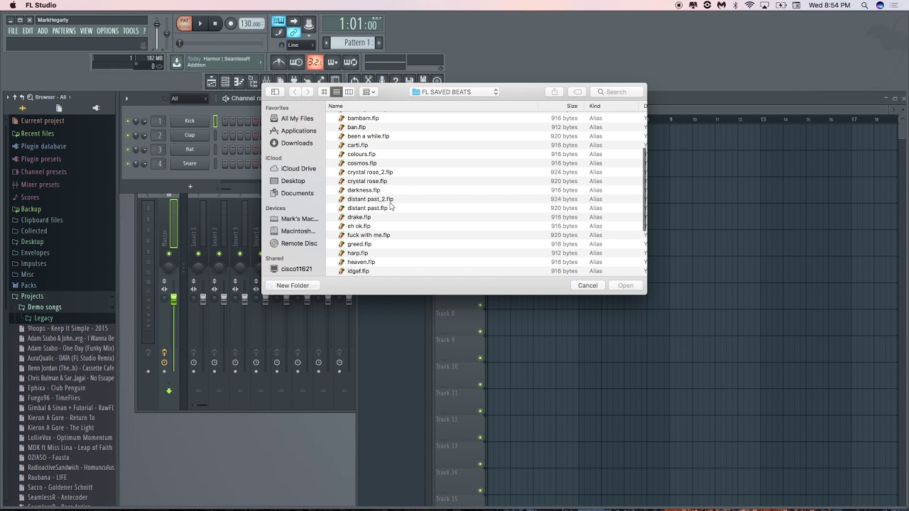 FL studio Mac Beta shutting down after loading any project