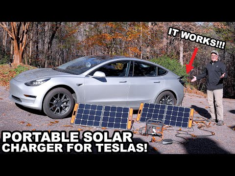 Yes, you CAN charge your Tesla with portable solar!!!